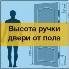 Высота расположения дверных ручек