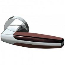 Межкомнатная дверная ручка Armadillo ARC URB2 CP/CP/Brown-16 Хром/хром/коричневый