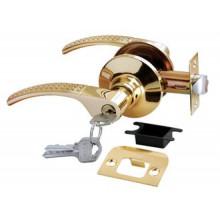 Дверные ручки КНОБЫ Rucetti (с механизмом) HK-04 L SG/GP Цвет - Матовое золото/золото