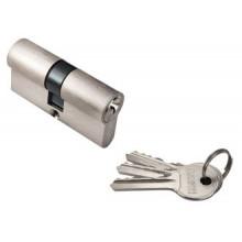 Ключевой цилиндр RUCETTI ключ/ключ (60 мм) R60C SN Цвет - Белый никель