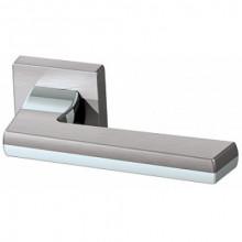 Межкомнатная дверная ручка Armadillo GROOVE USQ5 SN/СР/SN-12 Матовый никель/хром/матовый никель