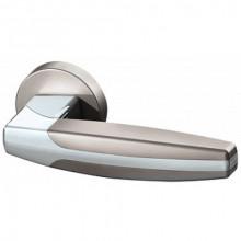 Межкомнатная дверная ручка Armadillo ARC URB2 SN/CP/SN-12 Матовый никель/хром/матовый никель