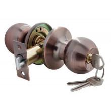 Дверные ручки КНОБЫ Rucetti (с механизмом) HK-01 L AC Цвет - Античная медь
