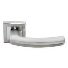 Дверные ручки RUCETTI RAP 11-S SN/CP Цвет - Белый никель/хром