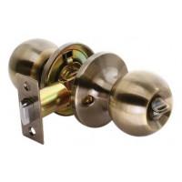 Дверные ручки КНОБЫ Rucetti (с механизмом) HK-01 WC AB Цвет - Античная бронза