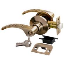 Дверные ручки КНОБЫ Rucetti (с механизмом) HK-04 L AB Цвет - Античная бронза