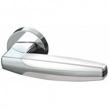 Межкомнатная дверная ручка Armadillo ARC URB2 CP/CP/White-14 Хром/хром/белый