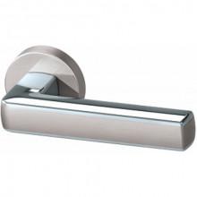 Межкомнатная дверная ручка Armadillo CUBE URB3 SN/CP/SN-12 Матовый никель/хром/матовый никель