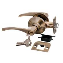 Дверные ручки КНОБЫ Rucetti (с механизмом) HK-02 L AB Цвет - Античная бронза