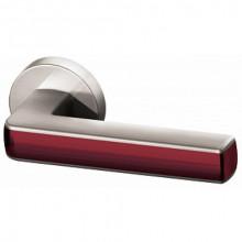 Межкомнатная дверная ручка Armadillo CUBE URB3 SN/Bordo-18 Матовый никель/бордовый