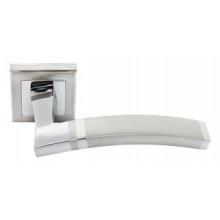 Дверные ручки RUCETTI RAP 13-S SN/CP Цвет - Белый никель/хром
