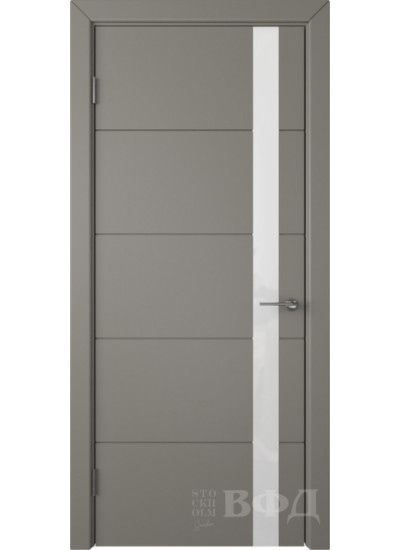Межкомнатная дверь ВФД - Тривиа 50ДО03 темно-серый (ул ...
