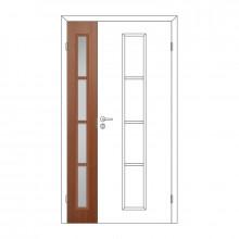 Полотно дверное Олови М3x21 Орех отв. часть 3D с/п