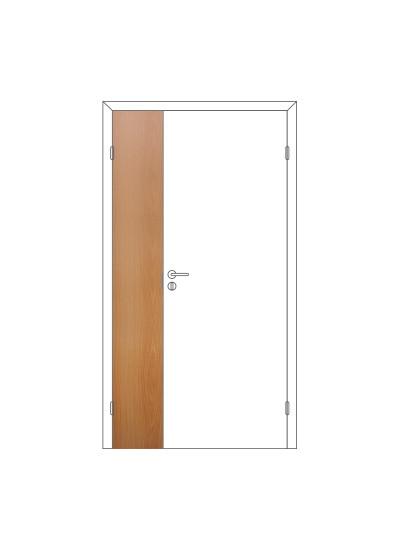 Полотно дверное Олови 300х2000 Миланский орех отв. часть, глухое, с/ф