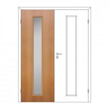 Полотно дверное Олови 600х2000 Миланский орех отв. часть, cтекло L2, с/ф