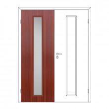 Полотно дверное Олови 600х2000 Итальянский орех отв. часть, cтекло L2, с/ф