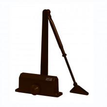 Доводчик 61004 25-45 кг (макс 60 кг) с автофиксацией коричневый (10)
