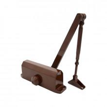 Доводчик 61204 60-85 кг (макс 110 кг) с автофиксацией коричневый ()10)