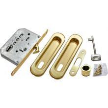 """Комплект для раздвижных дверей (замок под ключ-""""буратино"""") MORELLI MHS150 L SG матовое золото"""