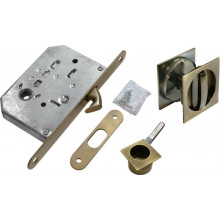 Комплект для раздвижных дверей (ручки, сантехническая защелка) MORELLI MHS-2 WC AB бронза