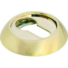 Накладка круглая на ключевой цилиндр MORELLI MH-KH SG/GP матовое золото/золото