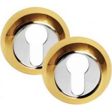 Накладка PALIDORE на евроцилиндр круглая CL PB, 2 шт. в комплекте, золото
