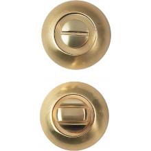 Завертка сантехническая на круглой накладке BUSSARE WC-10 S.GOLD Золото матовое