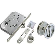 Комплект для раздвижных дверей (ручки, сантехническая защелка) MORELLI MHS-1 WC SC матовый хром