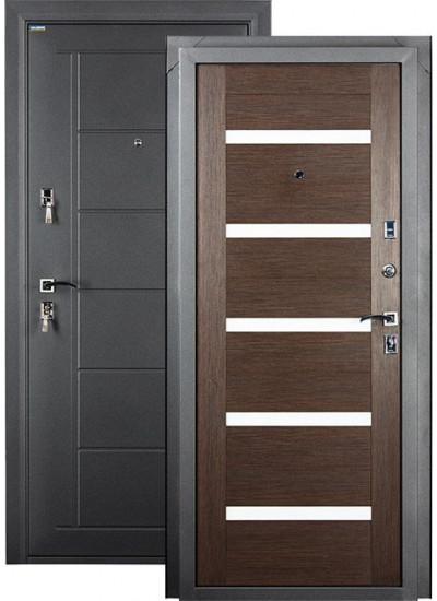 Дверь стальная VALBERG СТАЙЛ (Чёрный муар - Венге)