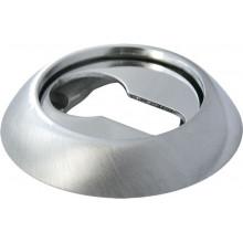 Накладка круглая на ключевой цилиндр MORELLI MH-KH SN/CP белый никель/полированный хром