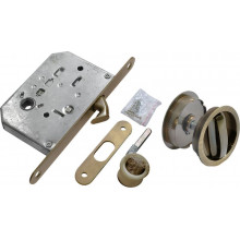Комплект для раздвижных дверей (ручки, сантехническая защелка) MORELLI MHS-1 WC AB бронза