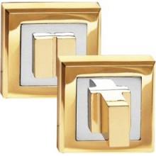Завертка PALIDORE сантехническая на квадратной накладке OLS PB Золото блестящее