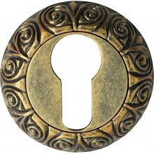 Накладка под евроцилиндр круглая BUSSARE B0-20 ANT.BRASS Античная латунь