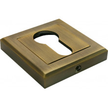 Накладка квадратная на ключевой цилиндр MORELLI MH-KH-S COF кофе