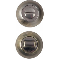 Завертка сантехническая на круглой накладке BUSSARE WC-10 ANT.BRONZE Античная бронза