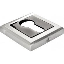 Накладка квадратная на ключевой цилиндр MORELLI MH-KH-S SN/BN белый никель/черный никель