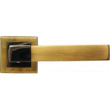 Ручка дверная на квадратной накладке BUSSARE STRICTO A-67-30 COFFEE BLACK/MOCHA кофе черный/мокко