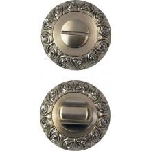 Завертка сантехническая на круглой накладке BUSSARE WC-20 ANT.BRONZE Античная бронза