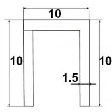 Нижняя направляющая 1м 10х10мм MORELLI TRACK-B 10x10x10 1M