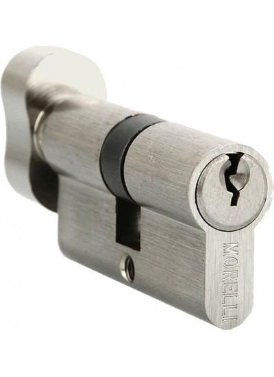 Ключевой цилиндр с поворотной ручкой MORELLI 60CK SN никель матовый