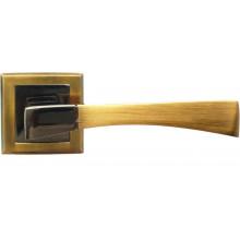 Ручка дверная на квадратной накладке BUSSARE STRICTO A-16-30 COFFEE BLACK/MOCHA кофе черный/мокко