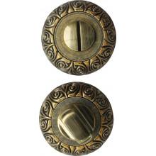 Завертка сантехническая на круглой накладке BUSSARE WC-20 ANT.BRASS Античная латунь