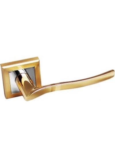 Ручка PALIDORE на квадратной розетке 277SB/PB, золото мат/золото