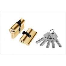 Цилиндр для врезн. замка 60мм 3 кл.,ключ/ключ PALIDORE A60PB, Золото