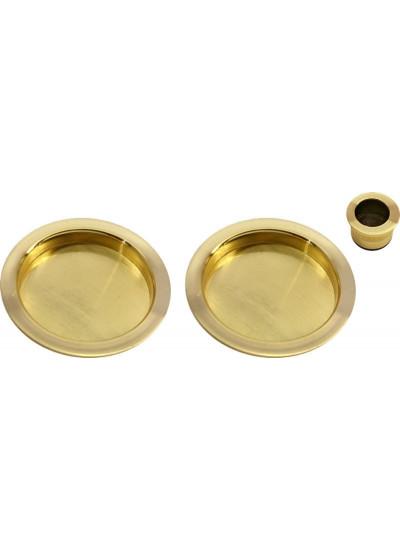 Ручка пальчиковая (2шт.) для раздвижных дверей MORELLI MHS-1 SG матовое золото