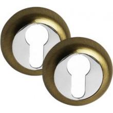 Накладка PALIDORE на евроцилиндр круглая CL BB, 2 шт. в комплекте, бронза