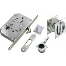Комплект для раздвижных дверей (ручки, сантехническая защелка) MORELLI MHS-2 WC SC матовый хром