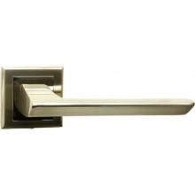 Ручка дверная на квадратной накладке BUSSARE ASPECTO A-64-30 S.CHROME матовый хром