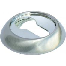 Накладка круглая на ключевой цилиндр MORELLI MH-KH SC/CP матовый хром/полированный хром