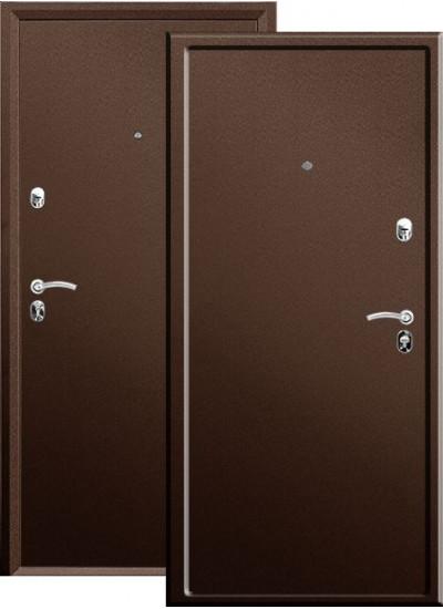 Дверь стальная VALBERG ПРАКТИК МЕТАЛЛ-МЕТАЛЛ (Медный антик - Медный антик)